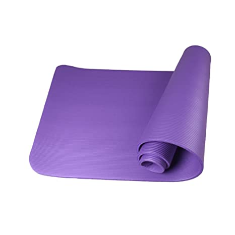 Amazon.com : Fullfun 0.39 inches Unti-Slip Yoga Mat Exercise ...