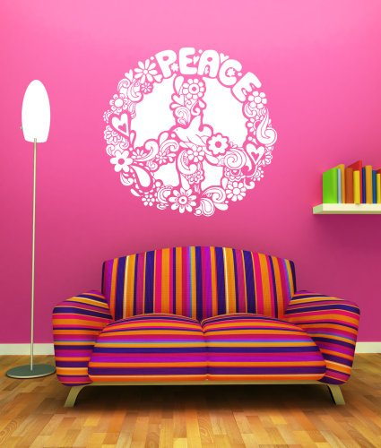 Peace Sign Vinyl Wall Decal- vinyl wall decal, kids wall art