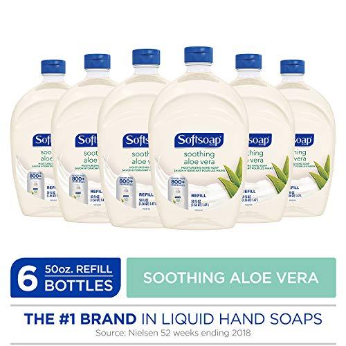 SOFTSOAP Liquid Hand Soap Refill, Soothing Aloe Vera, 50 Ounce Bottle, Bathroom Soap, Bulk Soap, Moisturizing Hand Soap, Premium Scented Hand - 50% Aloe