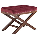 Modway EEI-2571-MAR Facet Bench Wood, Maroon