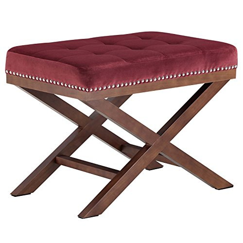 Modway EEI-2571-MAR Facet Bench Wood, Maroon by Modway