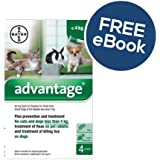 Advantage 40 - Small Dogs, Cats & Rabbits - INCLUDES FREE EXCLUSIVE PETWELL® FLEA AND TICK E BOOK