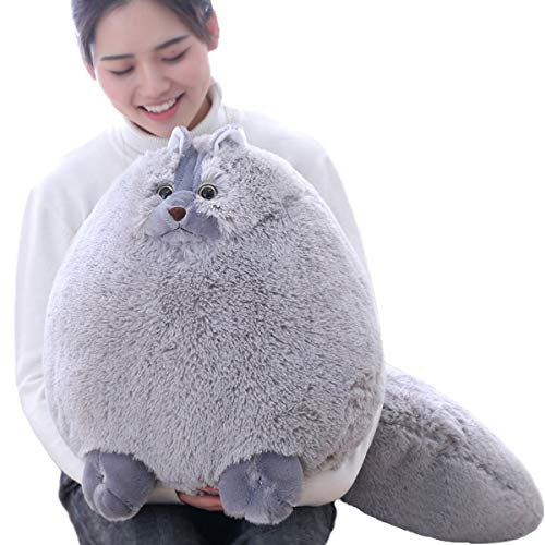 Winsterch Giant Cats Stuffed Animal Plush Cat Toys Pillow Kids Gifts Baby Doll,Gray,20 inches ()