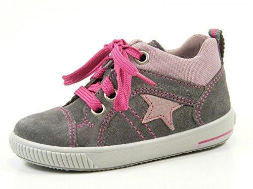 Superfit 7-00353-07 Moppy - Zapatos de primeros pasos de cuero bebé Grau