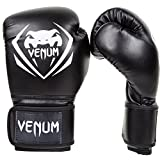 Venum Contender Boxing Gloves, Black, 14-Ounce