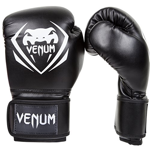 Venum Contender Boxing Gloves - Black/White - 16-Ounce