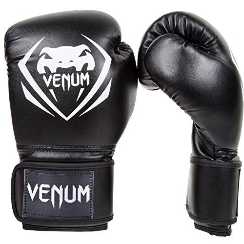 Venum Erwachsene Boxhandschuhe Contender, Schwarz, 12, EU-VENUM-1109