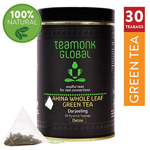 Darjeeling Organic Green Tea, 30 Teabags   Helps to Detox   100% Natural Whole Leaf Tea from Himalayas   No Additives