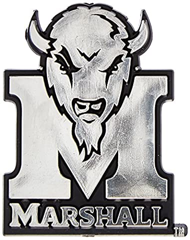 NCAA Marshall Thundering Herd Chrome Automobile Emblem - University Chrome Car Emblem