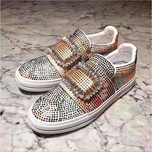 Rosso Sneakers Comfort da tonda Tacco Punta piatto Red Bianco primavera ZHZNVX donna Scarpe Gomma 7wTYTZ