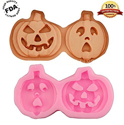 Kakasogo 2017 Newest Pink Pumpkin Silicone Soap Cake Chocolate Mold Trays DIY Handmade Cupcake Baking Candle Craft Art Pans Flexible Ice Cube Mould Bath Bombs Tool Set