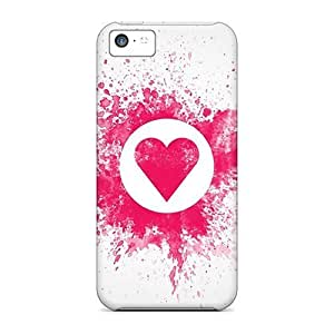 Hot Tpu Cover Case For Iphone/ 6 4.7 Case Cover Skin - Pink Heart Wallpaper