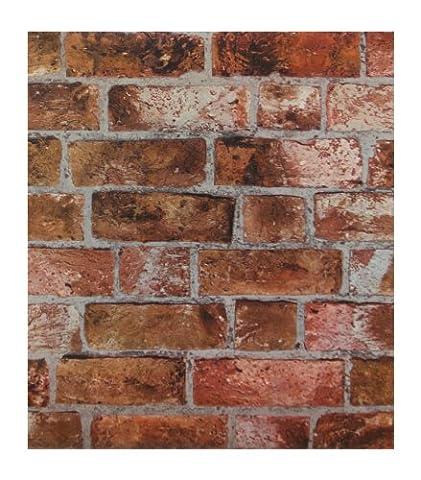 York Wallcoverings HE1046 Modern Rustic Brick Wallpaper (Fireplace Wallpaper)