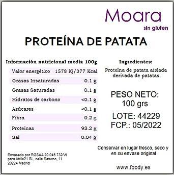 Proteína de Patata 100g. Sustituto del Huevo. 100% de origen vegetal