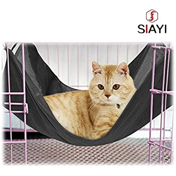 siayi cat hammock bed reverible cage chair pet hammock  fortable hanging kitten bed for small pets amazon     proselecta wild time pet cage hammocks    fortable      rh   amazon