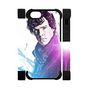 Perfect Arts Hot Movie Sherlock Holmes Unique Custom IPHONE 5 or 5S Best Polymer+Rubber Cover Case