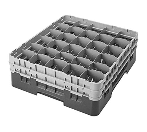 Cambro Camrack 30 Compartment 5 1/4'' Glass Rack, Brown (30S434167) Category: Warewashing Racks by Cambro