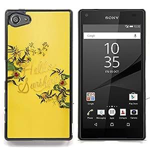 Stuss Case / Funda Carcasa protectora - Hola Amarillo Sol Verano Cita - Sony Xperia Z5 Compact Z5 Mini (Not for Normal Z5)