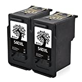 H&BO TOPMAE For Canon PG 540 540XL Remanufactured Ink Cartridges Compatible for Pixma TS5150 TS5151 MG4150 3250 3650 4250 4200 3600 3350 MX535 375 435 MG2150 2250 MX450 530 470 Printer(2BK)