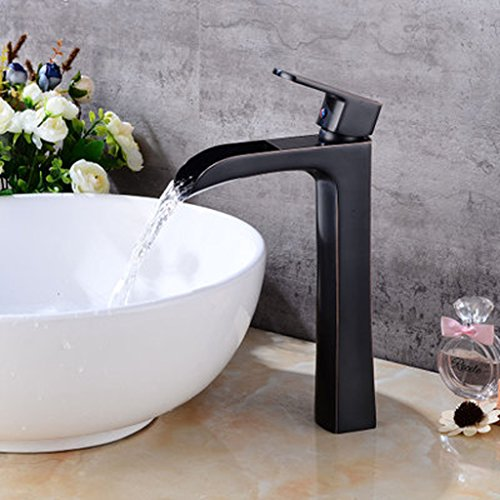 (European style above counter basin high tap/retro hot and cold faucet/waterfall heightening tap)