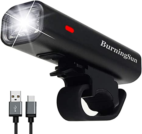 USB Rechargeable Bicycle Cycling Front Lamp Waterproof Bike Headlight Flashlight