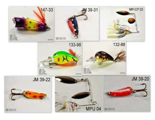 Akuna [PA] Pros' pick recommendation collection of lures for Bass, Panfish, Trout, Pike and Walleye fishing in Pennsylvania(Pan Fish 8-A) (Best Trout Fishing In Pa)