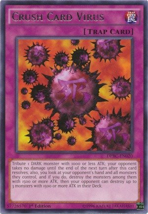Yu-Gi-Oh! - Crush Card Virus (DPBC-EN020) - Duelist Pack 16: Battle City - 1st Edition - Rare
