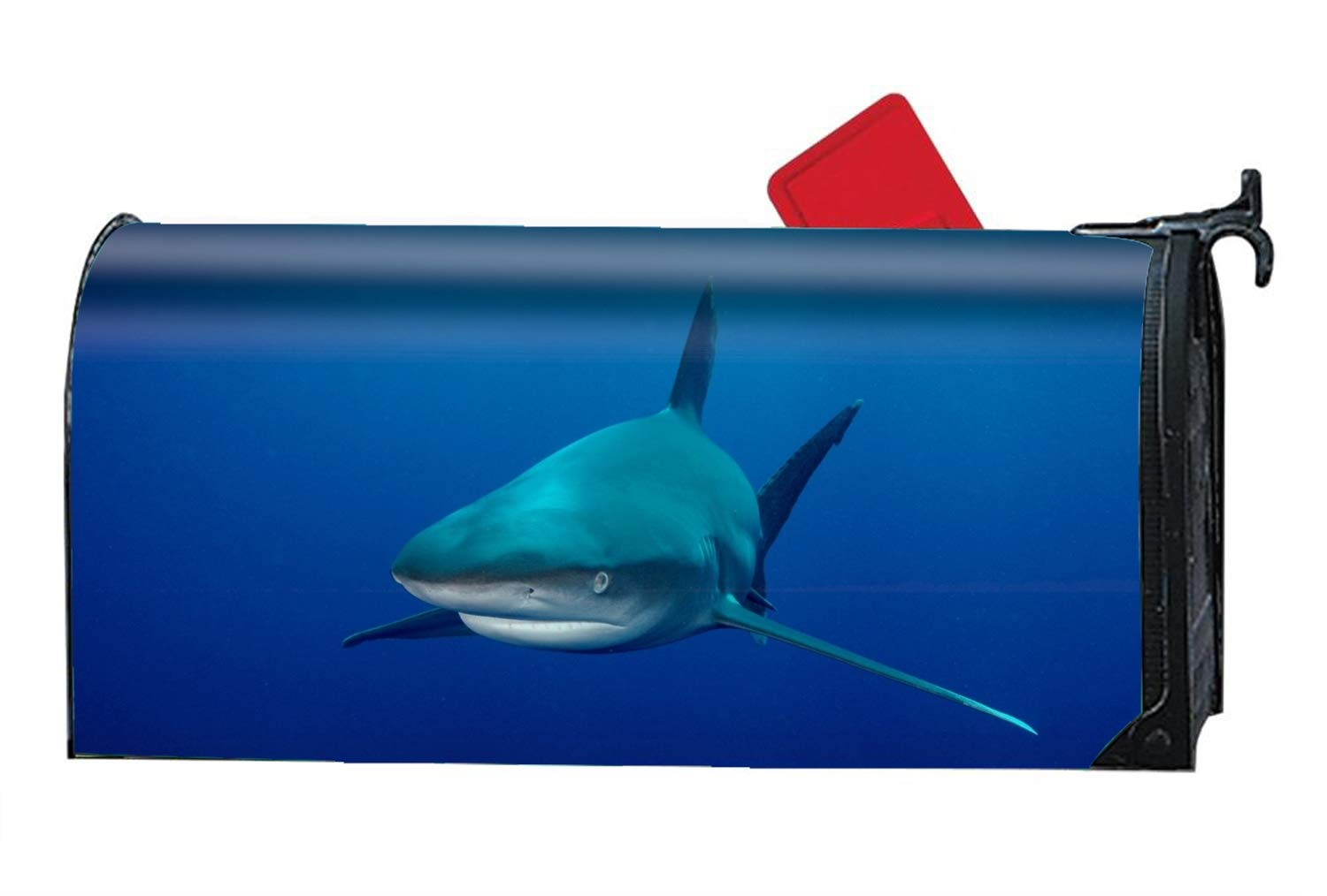 Verna Christopher Animal Sharks Fish Bull Magnetic Mailbox Cover Standard Fits Mailboxes
