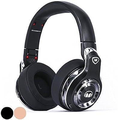 Monster Elements Wireless Over-the-Ear Bluetooth DJ Headphones, Black Platinum (137052-00)