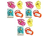 3 Set of 4 Colorful Unique Flip Flop Luggage Tags (Blue, Yellow, Pink and Orange) Bundled by Maven Gifts