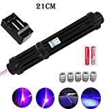 Lasers - Most Powerful Burning Laser Torch 450nm 10000m Focusable Blue Laser Sight Pointers Flashlight Burn Match Candle lit Cigarette - by HiMom - 1 PCs