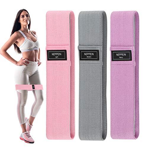 neppein Resistance Bands fitnessbanden, hip weerstandsbanden, sterke rekbaarheid, 3 weerstandsniveaus, antislip…