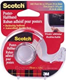 Scotch 011278 Poster-Haftband (Beidseitig klebend, Wieder ablösbar, 3,8 m x 19 mm)