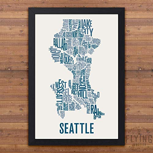 - Seattle Neighborhood Map Print
