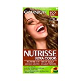 Garnier Nutrisse Ultra Color in 60 Light Brown. Vibrant Hair Dye for Dark Hair, with Natural Conditioning Oils