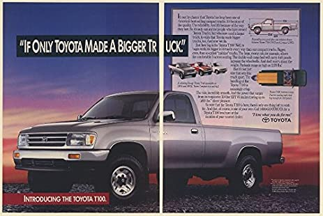 amazon com 1992 toyota t100 pickup truck 2 page print ad 69039 rh amazon com 1995 toyota t100 pickup truck 1994 Toyota T100 Extended Cab