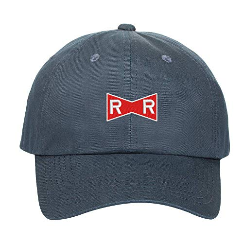 Dragonball Red Ribbon Army Logo Embroidered Low Profile Soft Crown Unisex Baseball Dad Hat Navy]()
