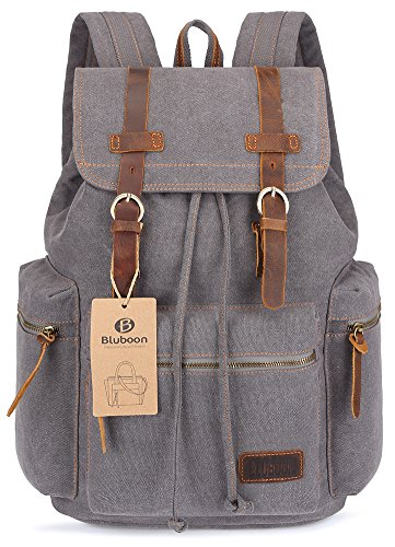 BLUBOON Canvas Vintage Backpack