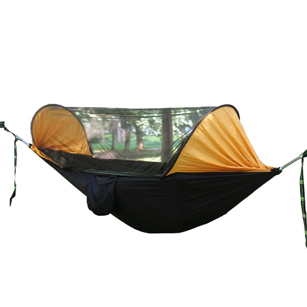ハンモック、空気中の陸テントの蚊帳キャンプ場の屋外ハンモック B07D7TV1BF 4 4
