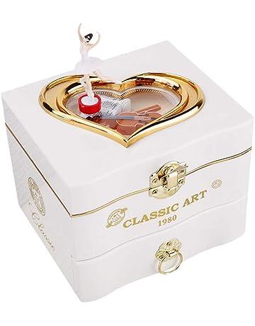 Boîte à Bijoux Musicale en Forme de Coeur de Ballerine Dansante Cadeau