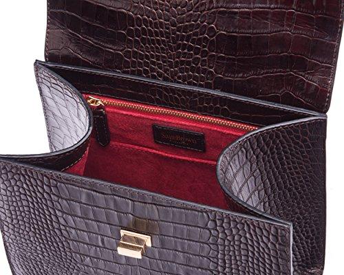 Morgan SAGEBROWN Brown Croc The Bag 1wH0OF