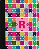 Rikki Knight Letter R Monogram Vibrant Hot Pink Edgy Mosaic Design Faux Leather Case for Apple iPad Mini (Not for iPad Mini 4)