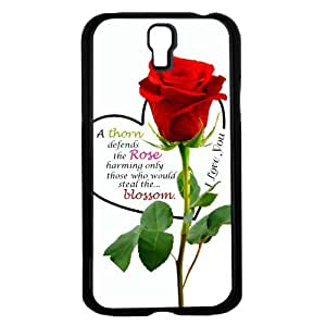 Rose Quote Hard Snap on Phone Case (Galaxy s4 IV)