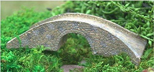 Del puente de piedra de jardín miniatura de hada: Amazon.es: Jardín