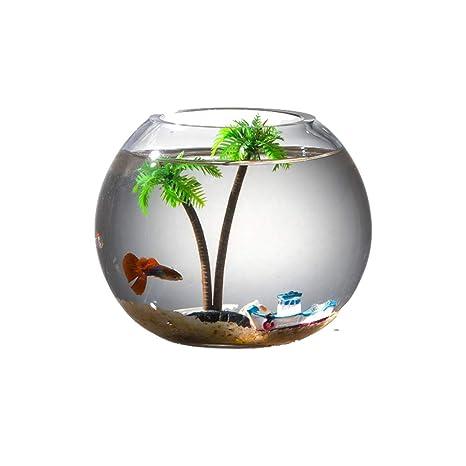 GONGYU - Cilindro de Bola para Acuario, diseño de pecera, Color Dorado