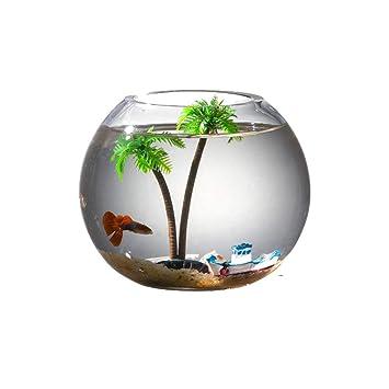 GONGYU - Cilindro de Bola para Acuario, diseño de pecera, Color Dorado: Amazon.es: Productos para mascotas