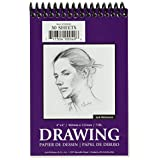 """Jack Richeson 30 Sheets of Spiral Bound Drawing Paper Pad, 4 x 6"""""""