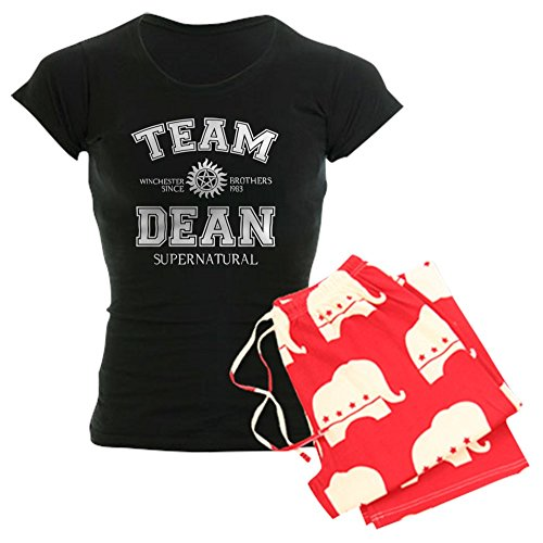 CafePress - Team Dean Supernatural Women's Dark Pajamas - Womens Novelty Cotton Pajama Set, Comfortable PJ Sleepwear - Supernatural Womens Pajamas