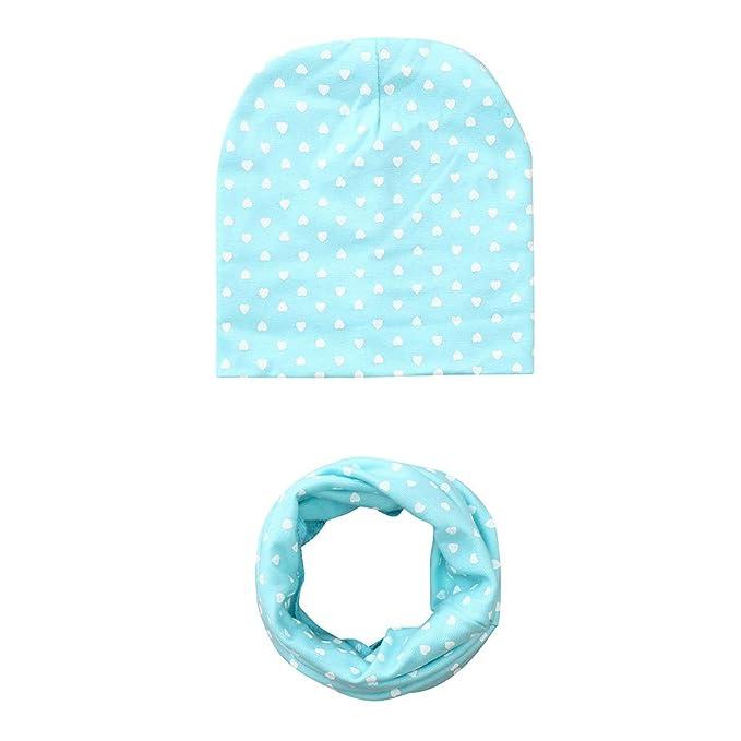 Homebaby 2PC Bambino Neonato delle Cappello+Sciarpa Colletti Vestito in  Cotone Amore Stampe Morbido Cappello 11fbf8e654ac