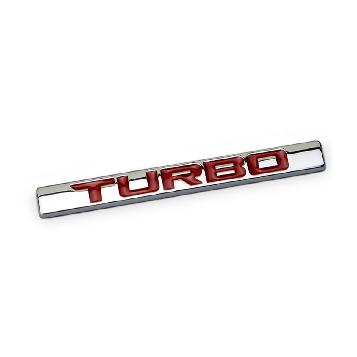Dsycar 1Pcs 3D Metal 210 220 TURBO Car Side Fender Rear Trunk Emblem Badge Sticker Decals for Universal Cars Motorcycle Car Styling Decorative Accessories (7)
